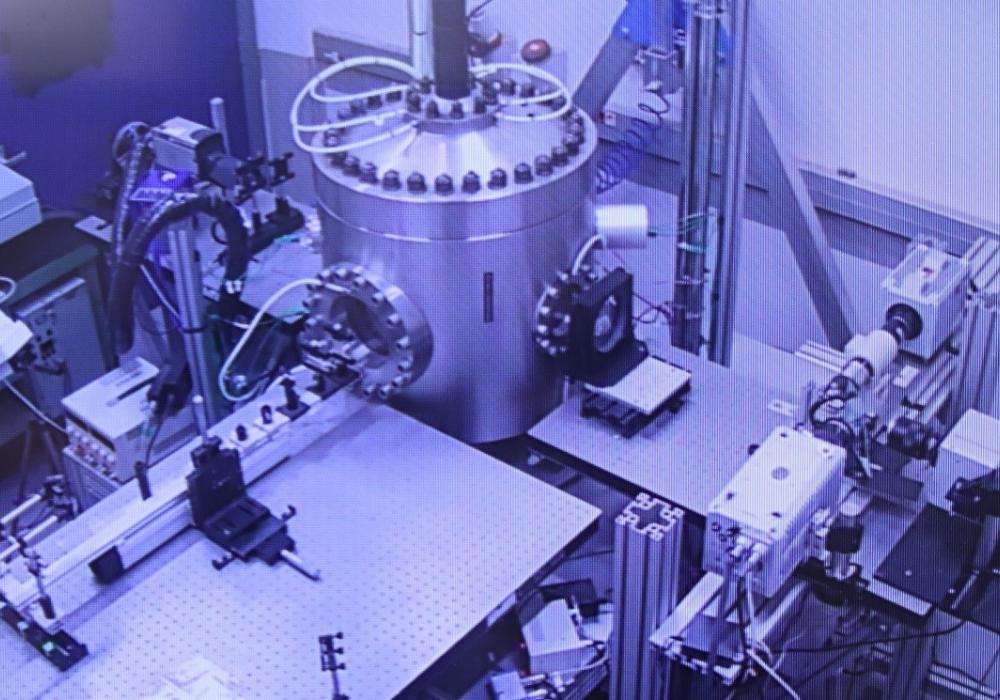 Experimental facility used to measure the data aimed at model validation