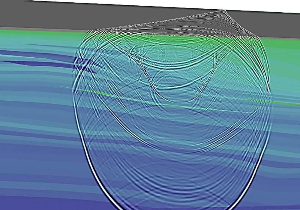 Wavefield during forward elastic seismic propagation