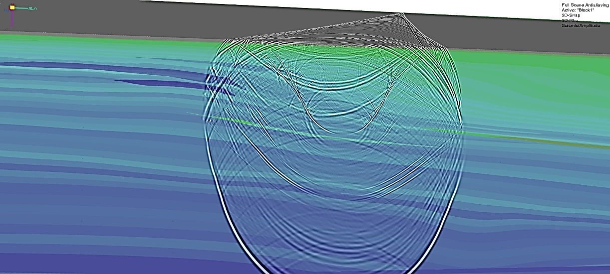 Wavefield during forward elastic seismic propagation